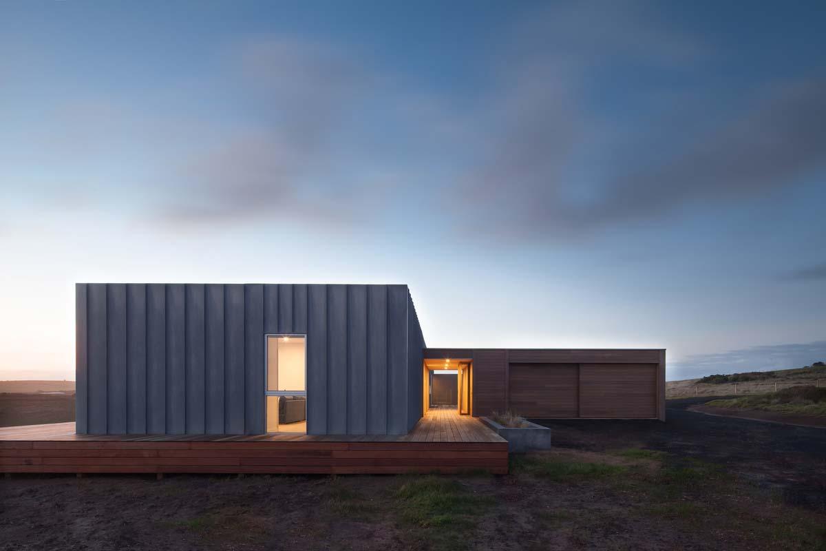 modern modular home entrance ms - Phillip Island Modular Home