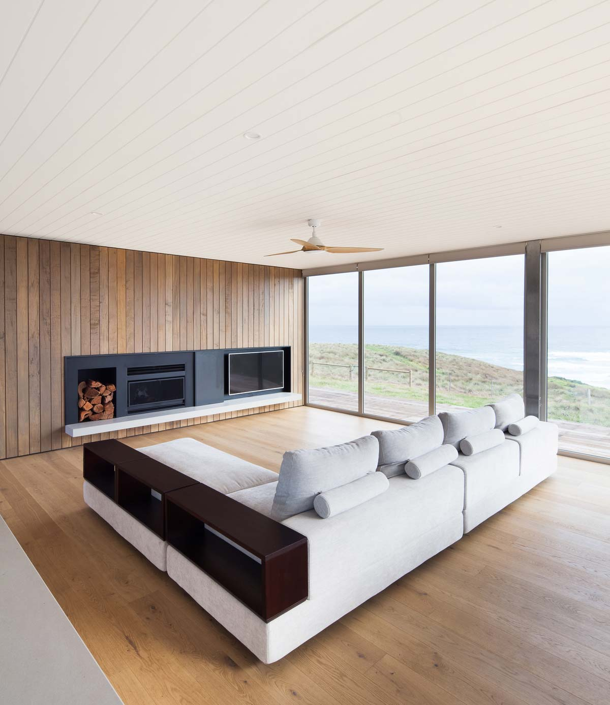 modern modular home living room ms - Phillip Island Modular Home