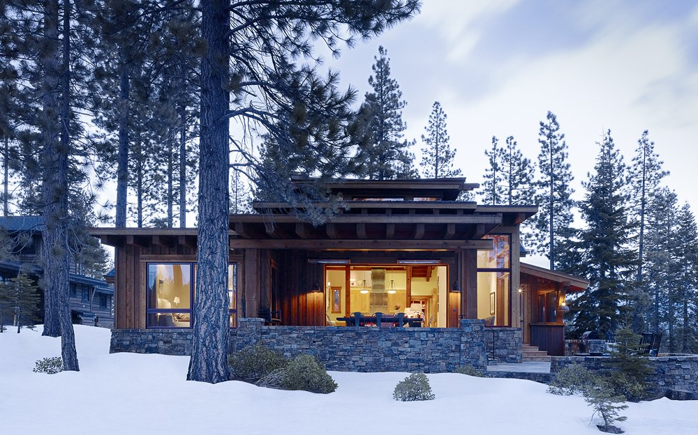 Modern mountain cabin contemporary comfort beautiful Modern mountain home plans