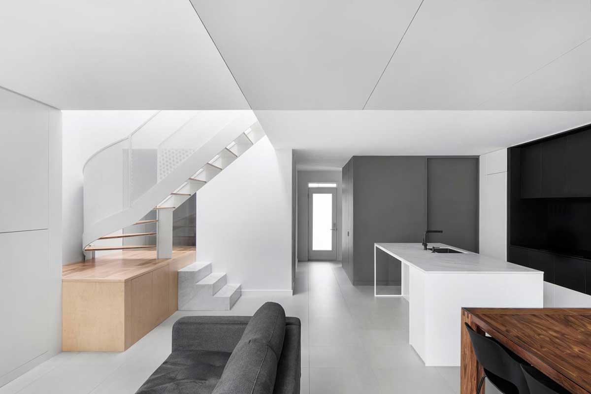 modern open plan design - De la Roche Residence