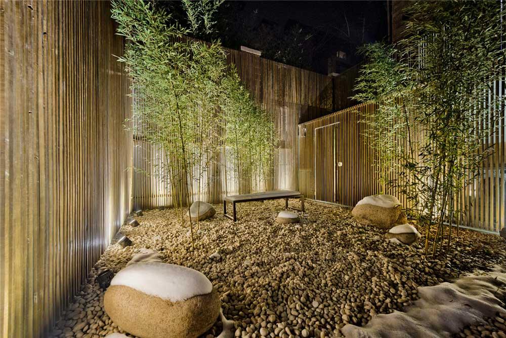 modern oriental courtyard as - Haitang Villa