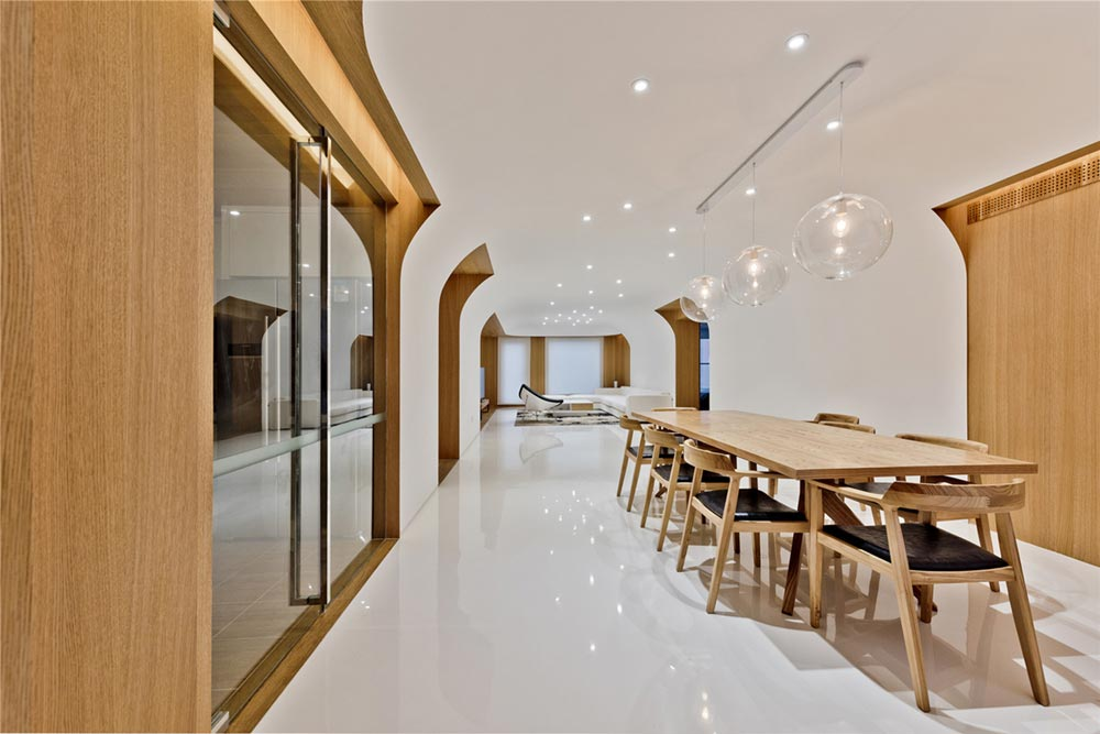 modern oriental dining interiors as - Haitang Villa