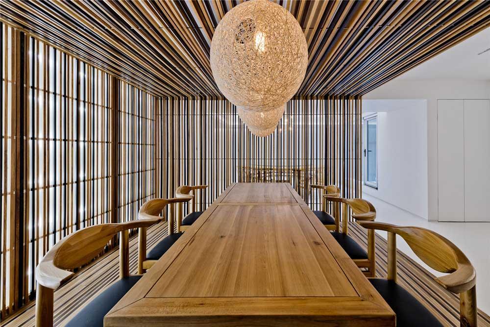 modern oriental dining interiors as2 - Haitang Villa