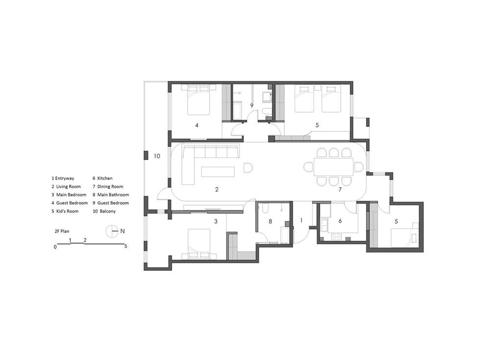 modern oriental home plan as1 - Haitang Villa
