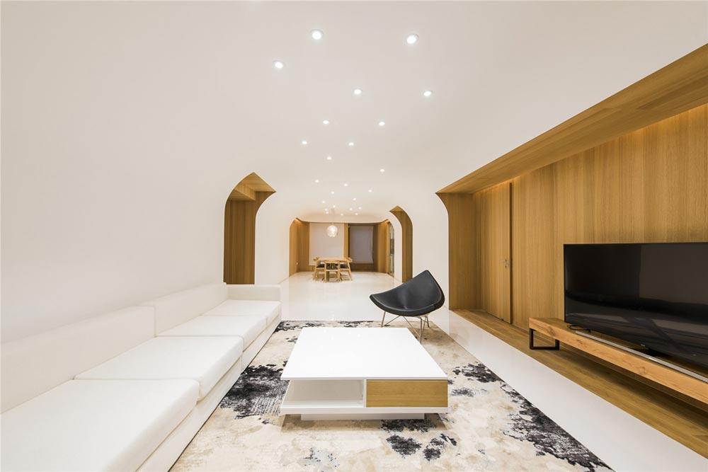 modern oriental living interiors as - Haitang Villa