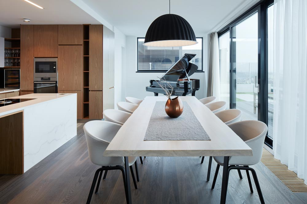 modern penthouse apartment dining - Penthouse F6.1