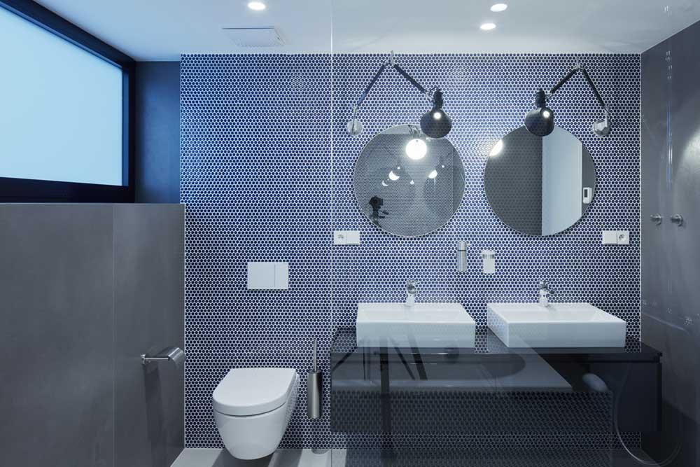 modern penthouse bathroom tile - Penthouse F6.1