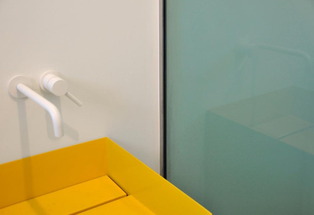 modern penthouse yellow sink tsa - CDR Penthouse
