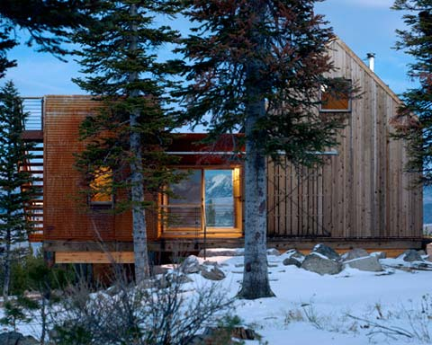 Montana Modern Prefab Cabin: On Top Of The World - Prefab Cabins