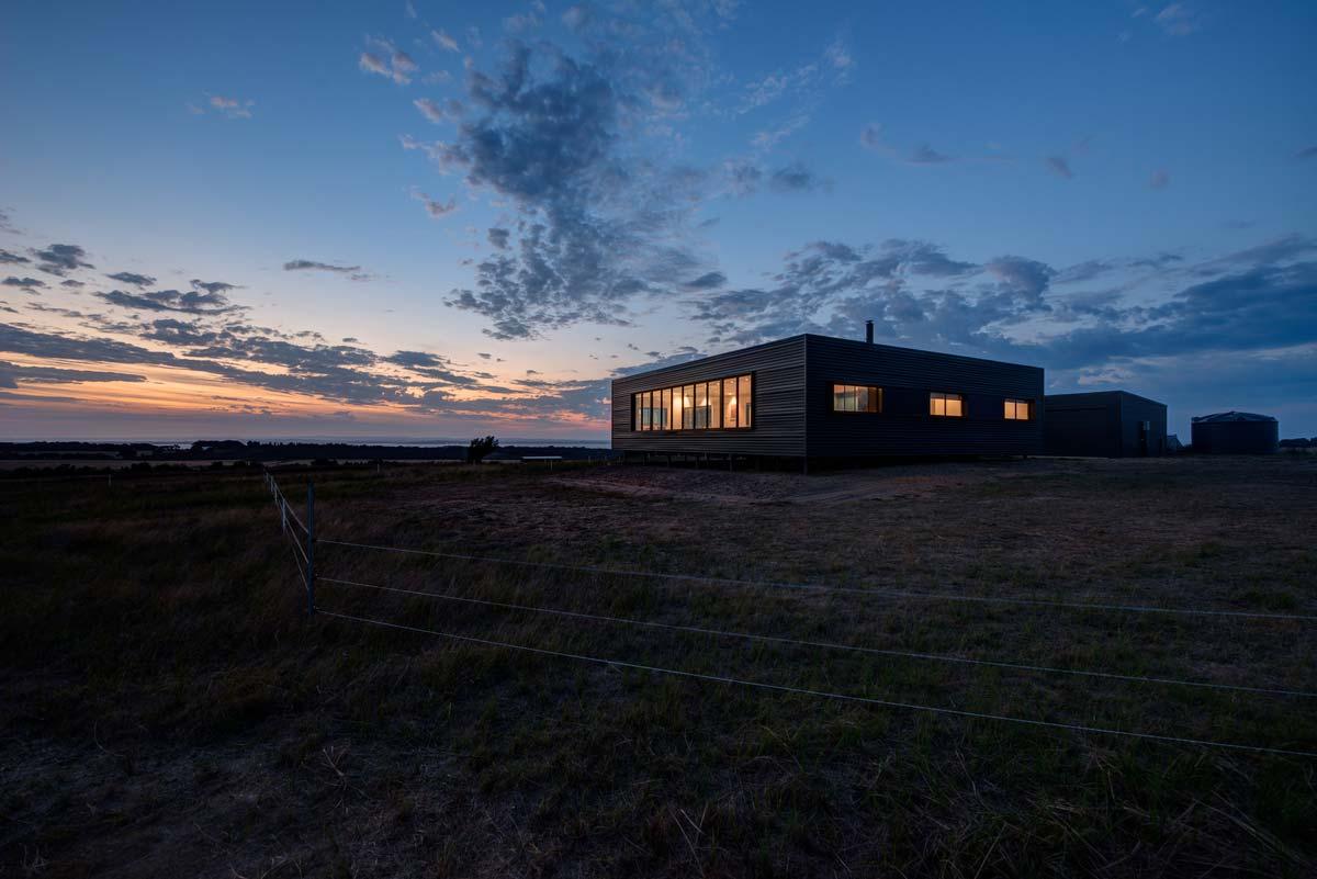 Modern prefab farmhouse at the remote french island in for Prefab modern farmhouse