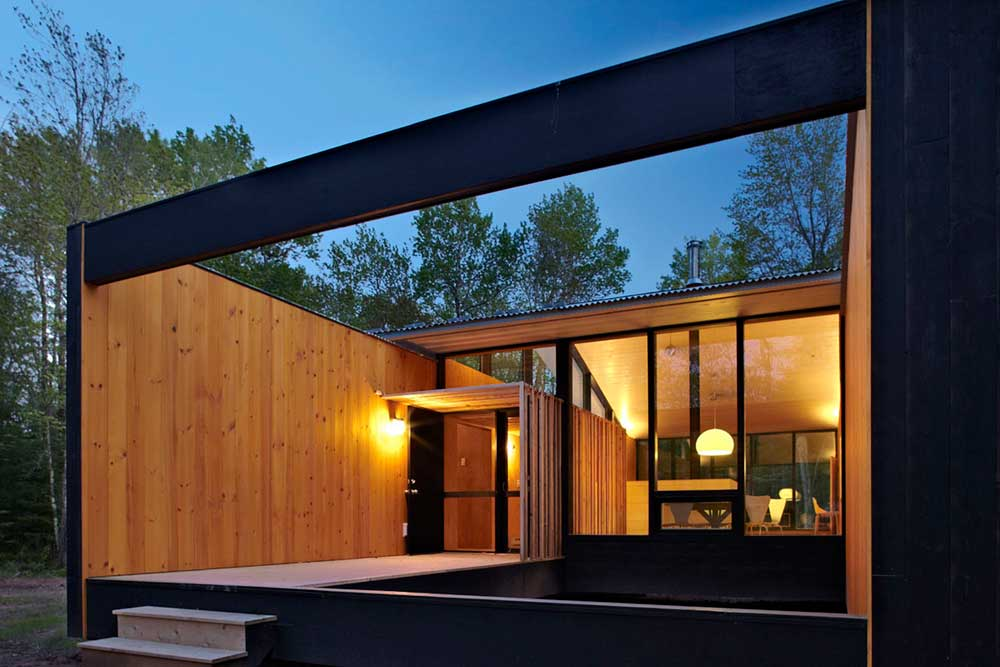 modern prefb cabin entry lzr - The Week'nder