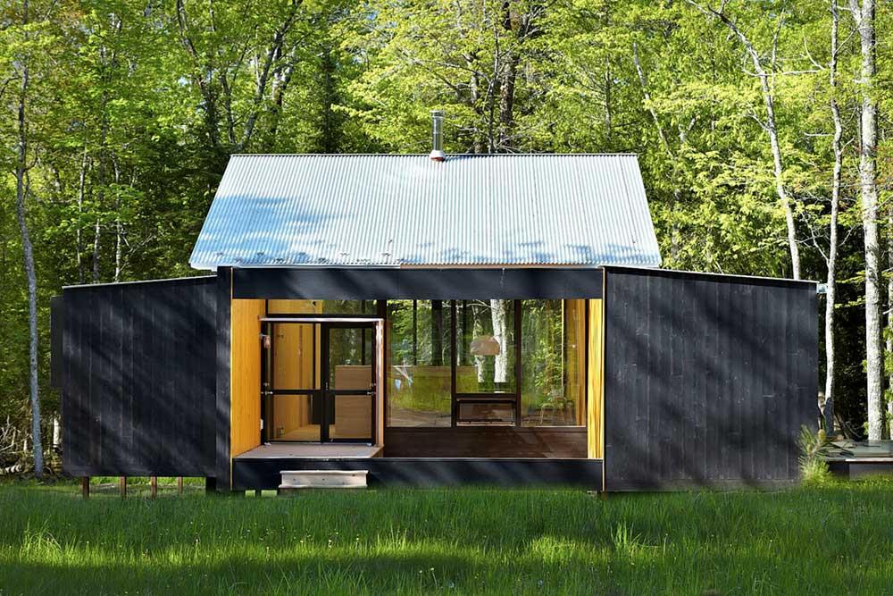 modern prefb cabin facade lzr - The Week'nder