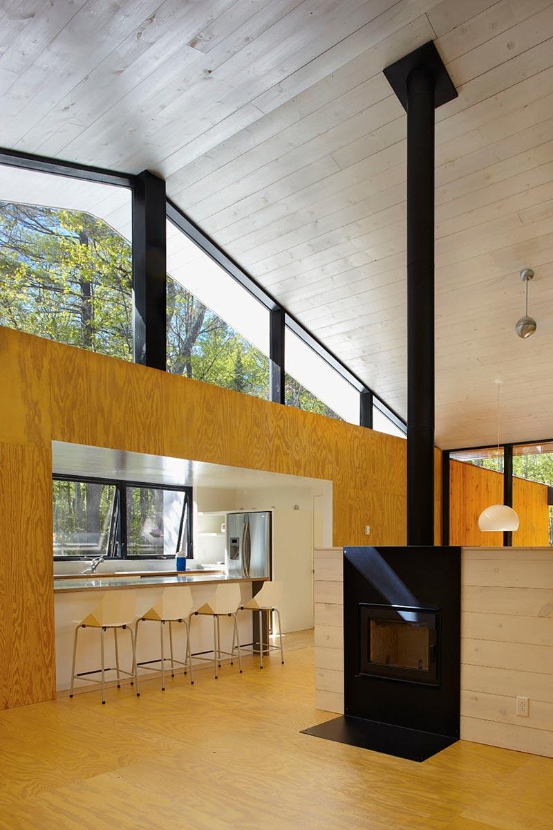 modern prefb cabin fireplace lzr - The Week'nder