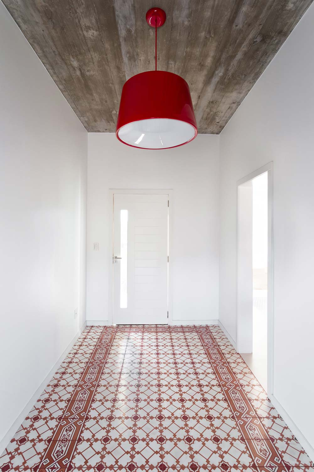 modern red tile home entrancejpg - View House