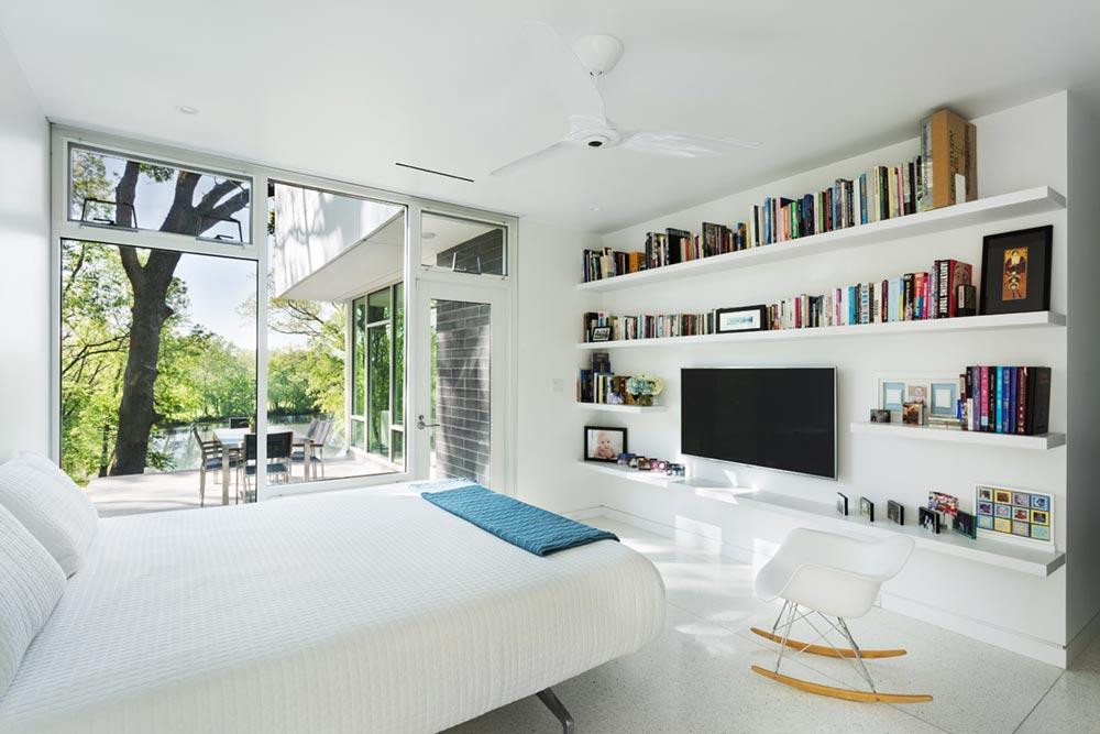 modern river home design bedroom cb - Boetger Home