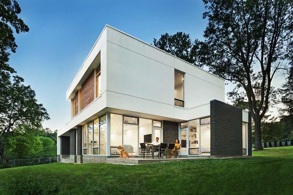 modern river home design deck cb - Boetger Home
