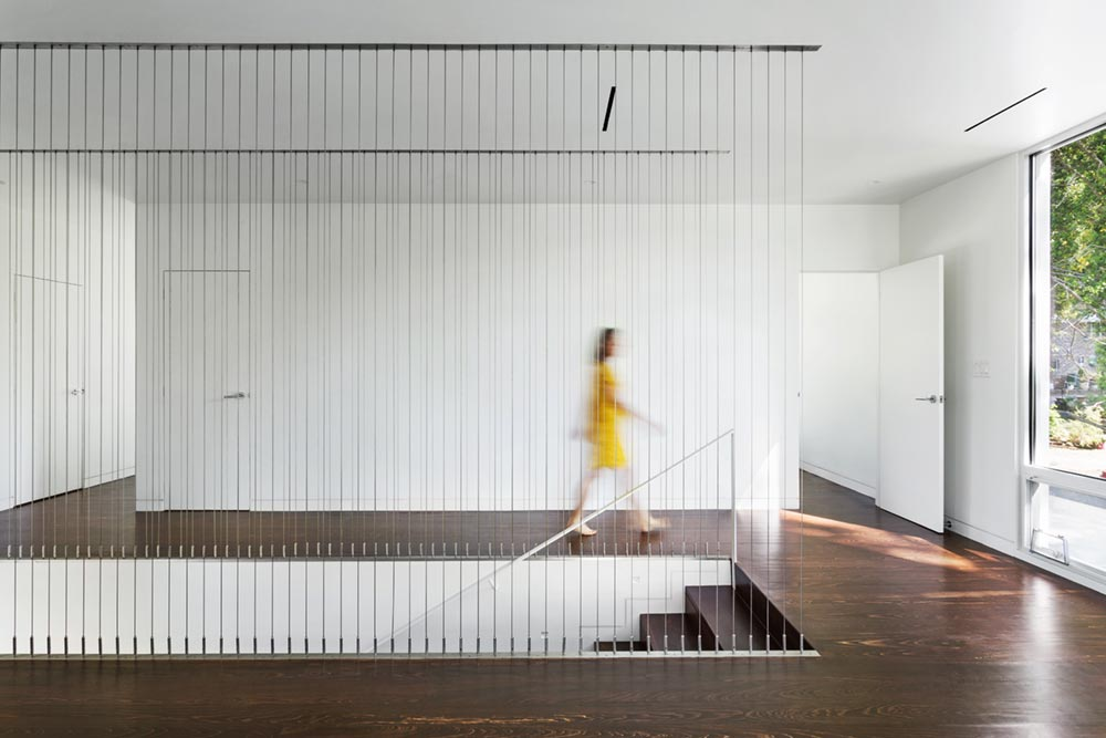 modern river home design stairs cb - Boetger Home
