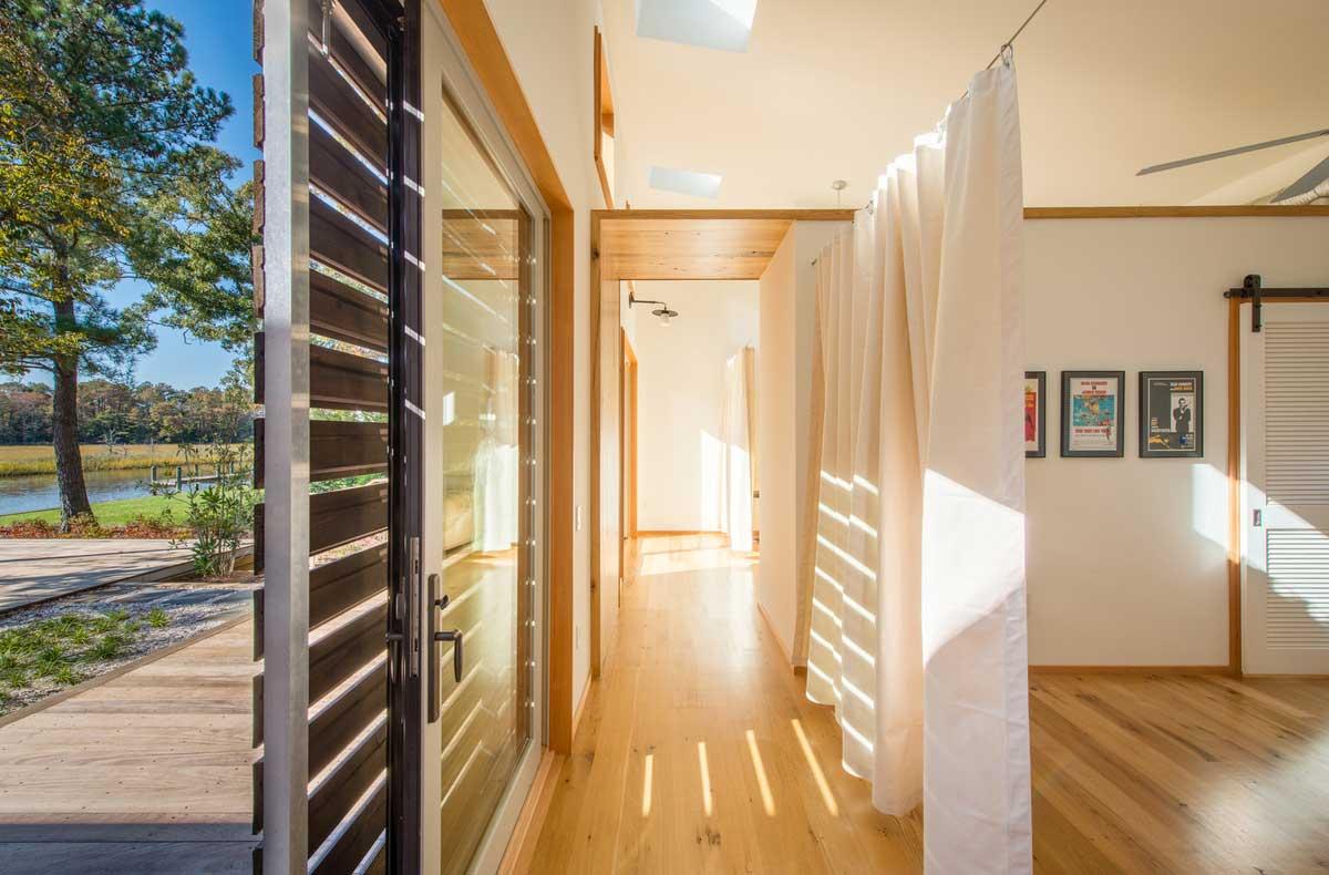 modern river house doors ga - Home on the Intracoastal Waterway