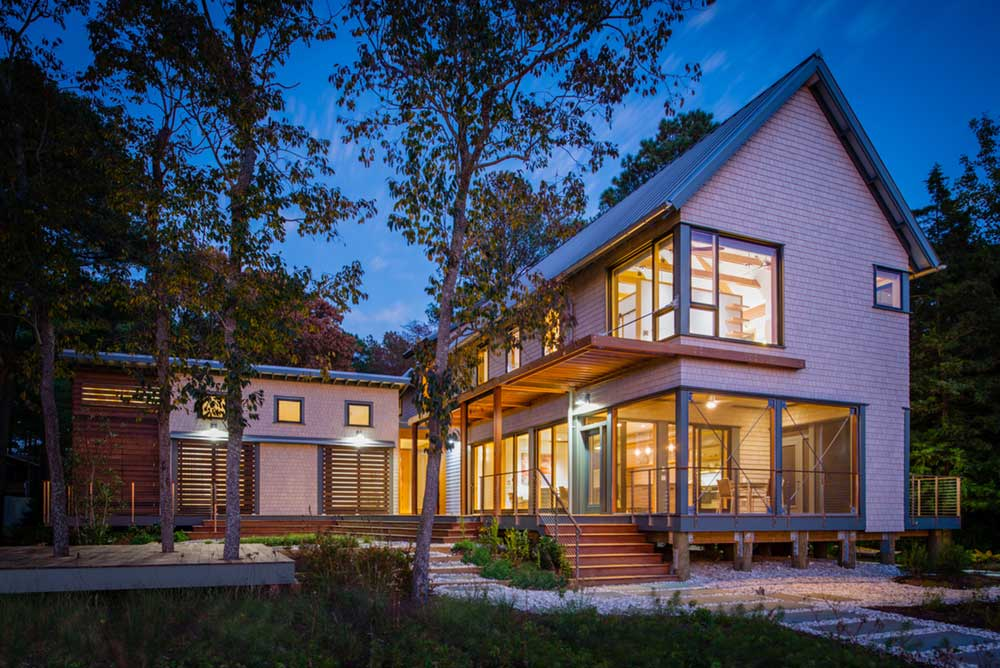 modern river house exterior ga - Home on the Intracoastal Waterway