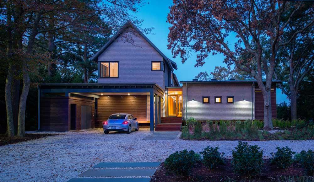 modern river house garage ga - Home on the Intracoastal Waterway
