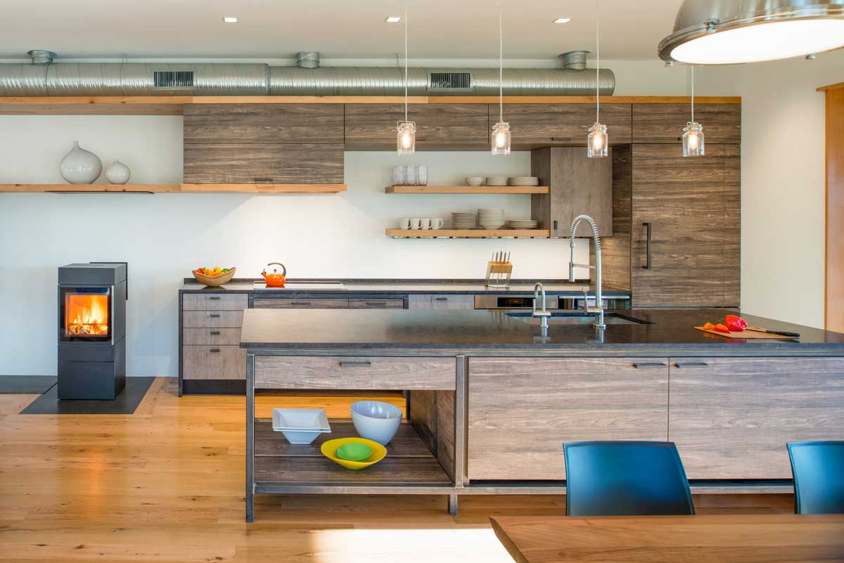 modern river house kitchen ga - Home on the Intracoastal Waterway