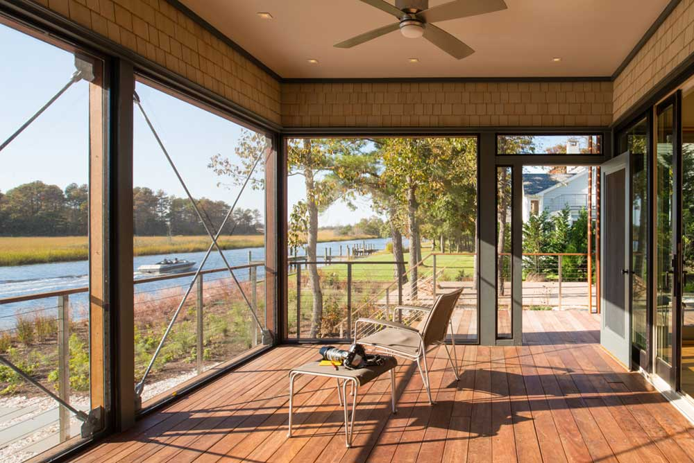 modern river house porch ga - Home on the Intracoastal Waterway
