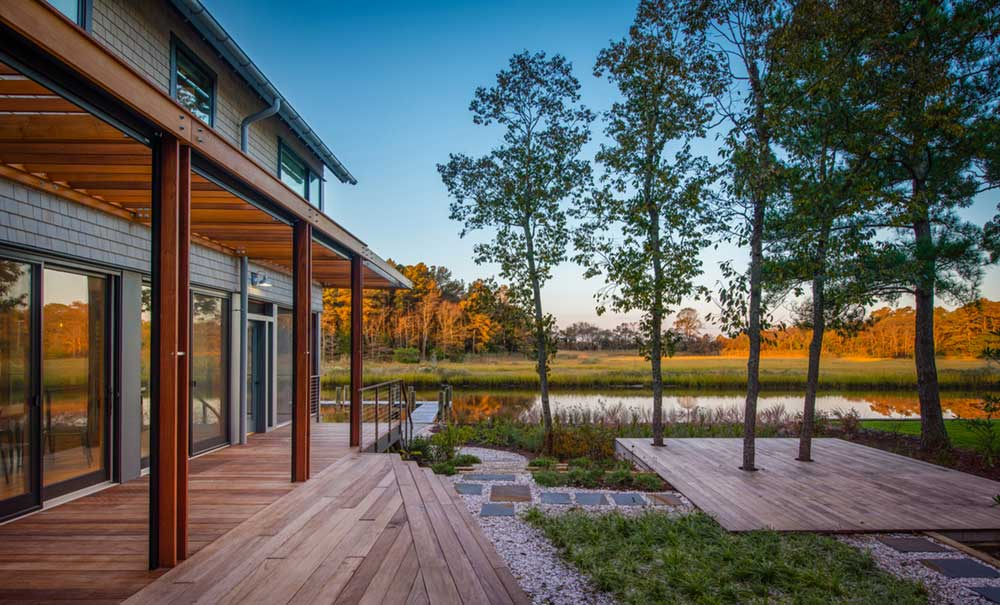 modern river house views ga - Home on the Intracoastal Waterway