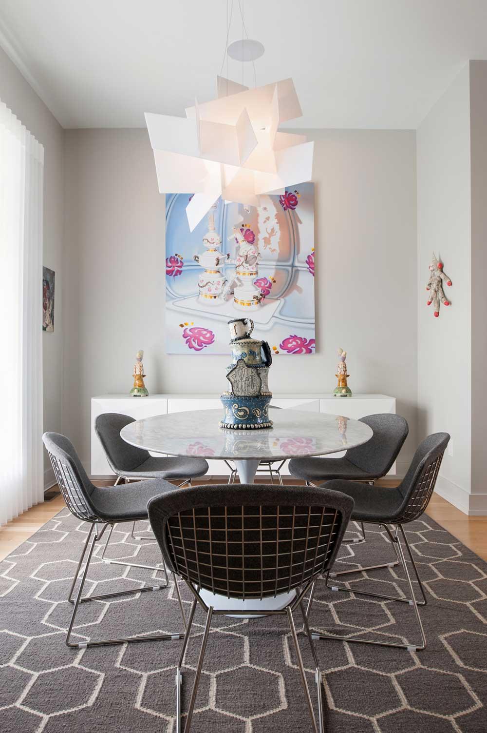 modern row house dining room smbw - Richmond Row House