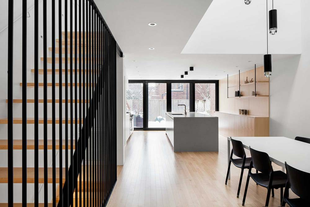 Row House Renovated With Modern Interiors