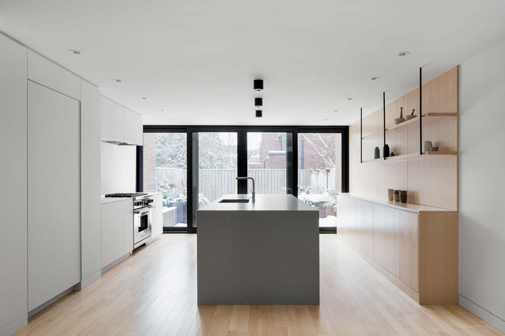 Modern row house kitchen design