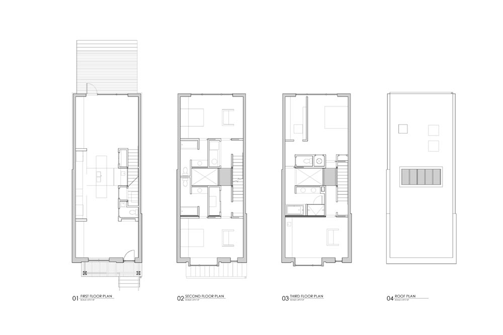 modern row house plan smbw - Richmond Row House