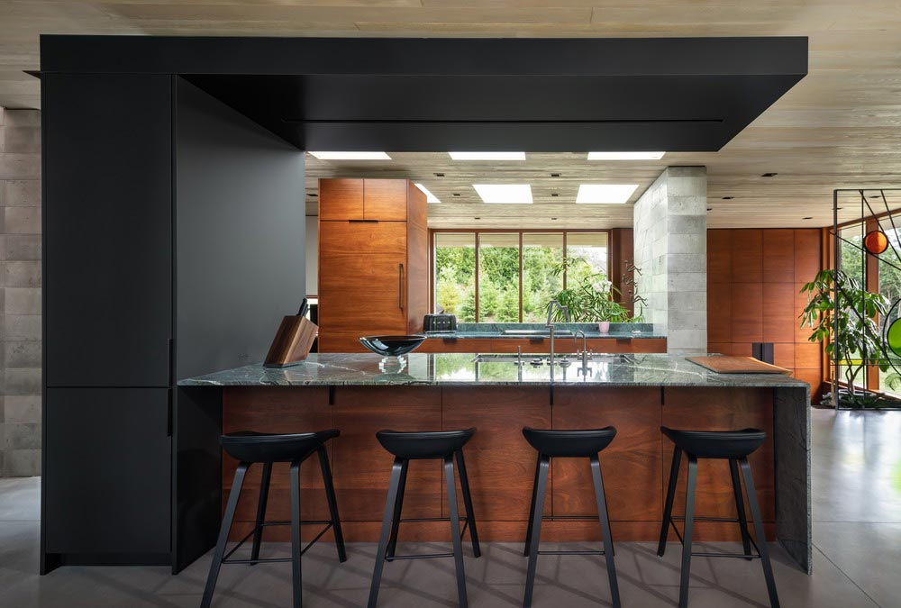 modern split level house design kitchen - Petaluma House