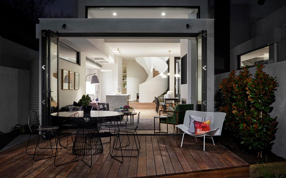 modern townhouse deck - Cressy Townhouses