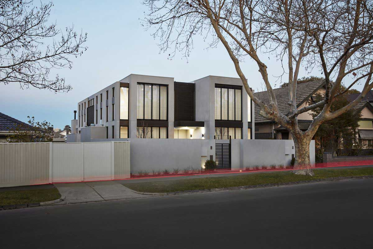 modern townhouse exterior - Cressy Townhouses
