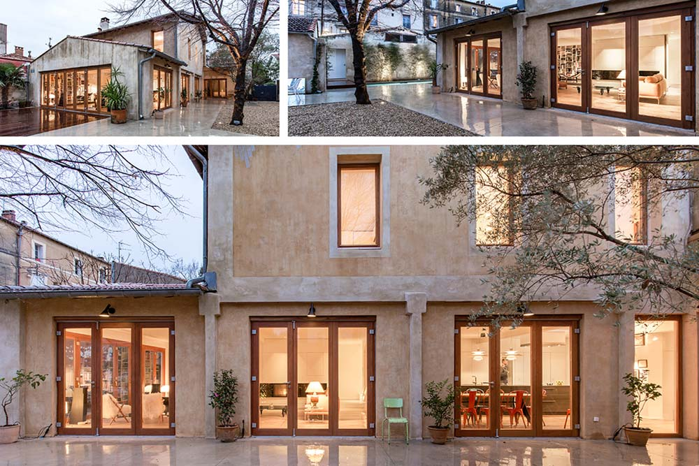 modern townhouse renovation exterior - Townhouse Renovation in Montpellier