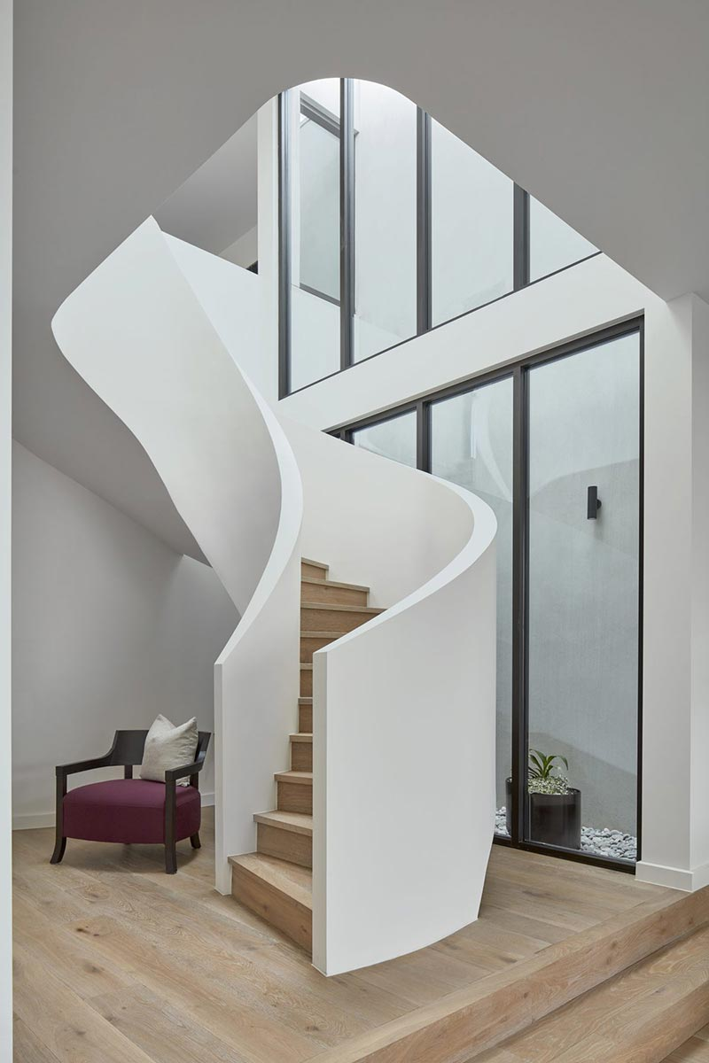 modern townhouse staircase design - Cressy Townhouses