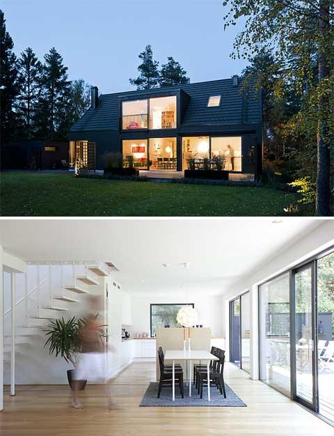 """Modern-vacation-home-lima """"title ="""" Modern-vacation-home-lima """"width ="""" 480 """"height ="""" 626 """"class ="""" alignnone size-full wp-image-11435 """"/> </p> <p> Nằm ở phía nam Malmo, Thụy Điển, trong một khu nghỉ mát mùa hè bên bờ biển, ngôi nhà mùa hè xinh xắn này thuộc về một cặp vợ chồng trẻ. Hiện đại, phù hợp với cuộc sống gia đình linh hoạt, nó có cấu trúc 1,5 tầng truyền thống, rất phổ biến ở phía nam Thụy Điển <span id="""