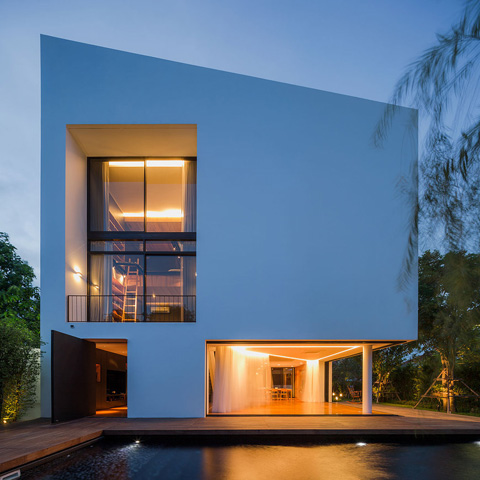 Modern architecture - Modern villa in Bangkok, Thailand