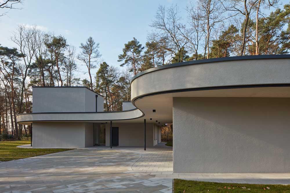 modern villa curve roof - Forest Villa