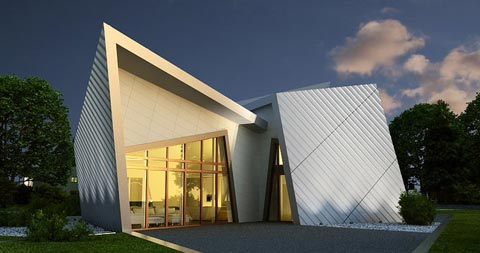 Libeskind villa modern architecture - Modern architectural trio ...