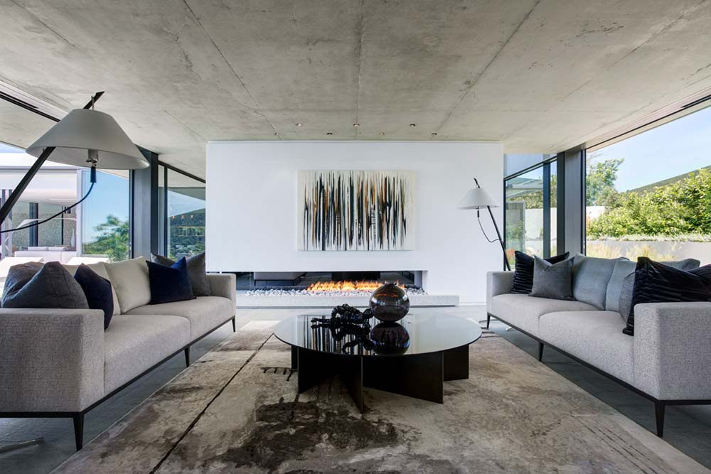Modern Indoor Fireplace Design