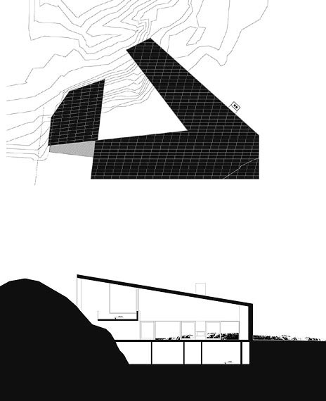 modern villa plan astrid - Villa Astrid: among the stones
