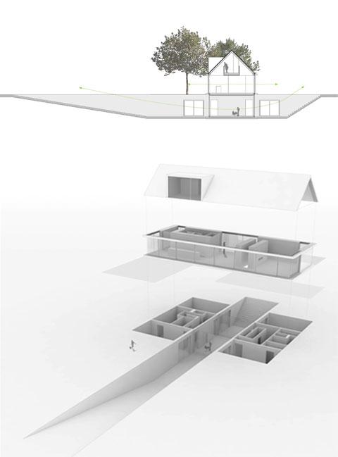 modern villa underground geldrop - Villa 415 Geldrop: Above and Under Ground