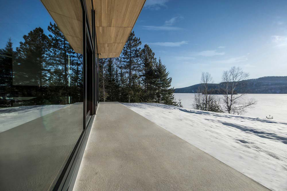 modern wooden cabin view - The Wooden Wing