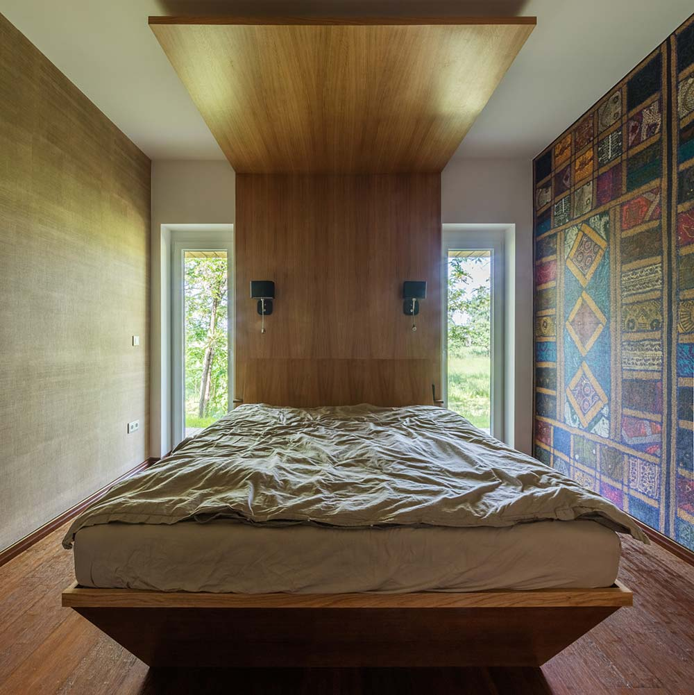 modern wooden house bedroom arc - Modern Wooden House