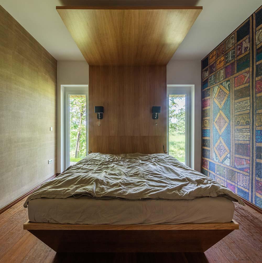 modern wooden house bedroom arc - Modern Wooden House