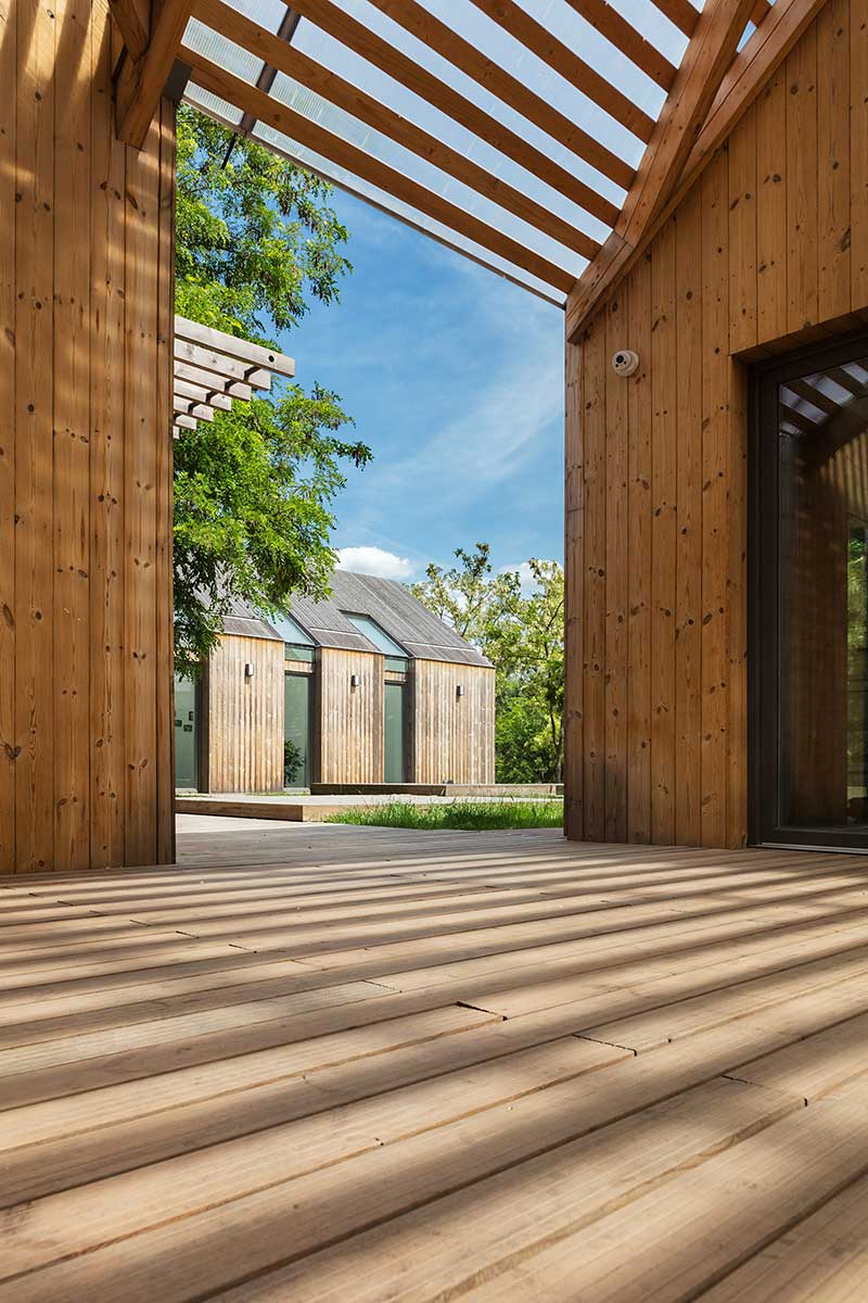 Modern Wooden House Design Open To Nature Outside Of