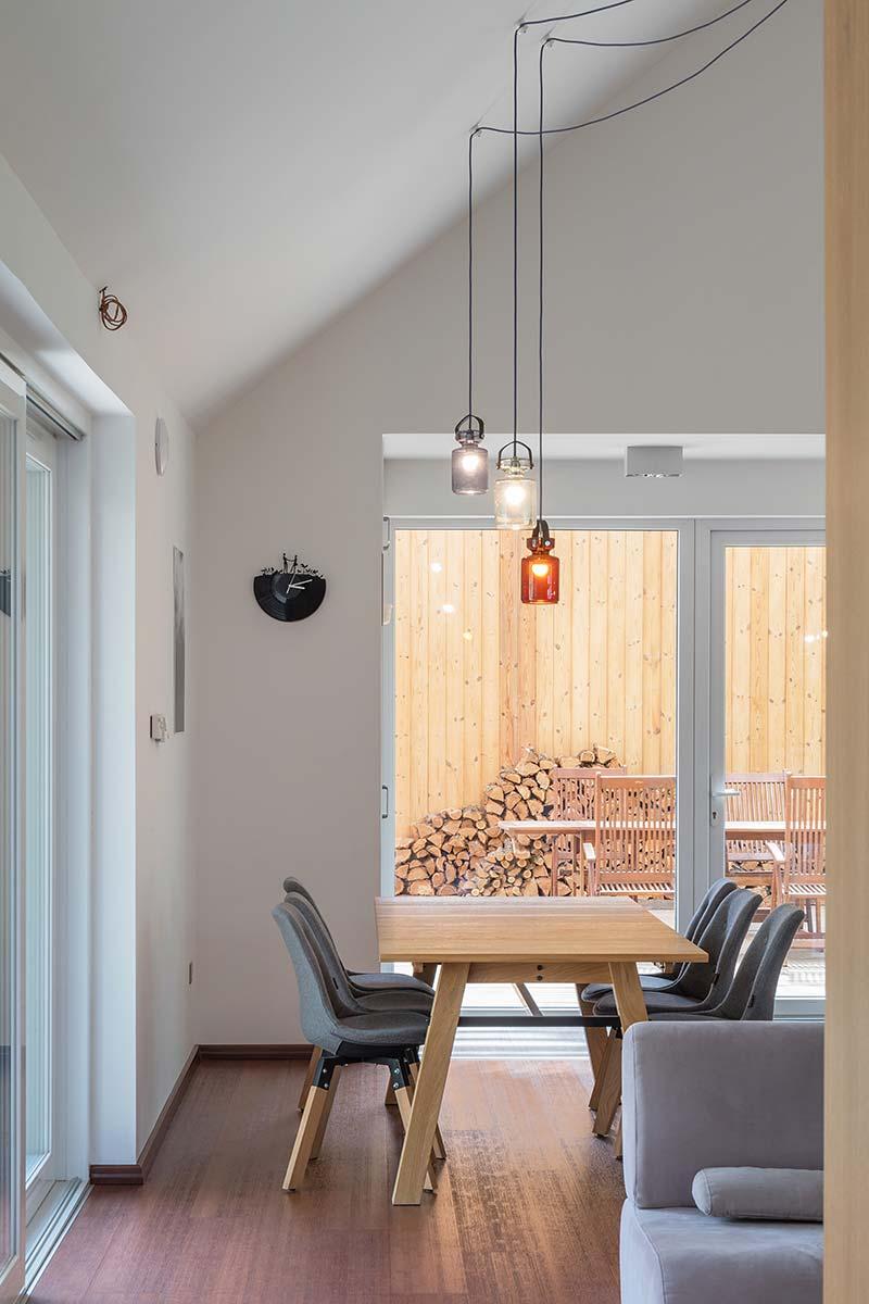 modern wooden house dining arc - Modern Wooden House