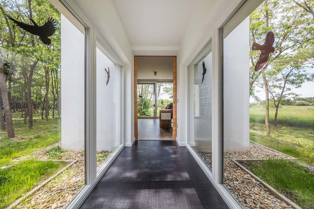 modern wooden house hallway arc - Modern Wooden House