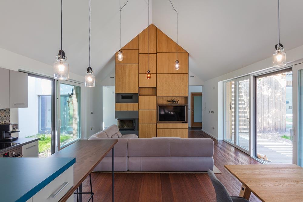 modern wooden house interiors arc - Modern Wooden House